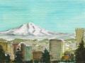 Mt Hood Over Portland, OR
