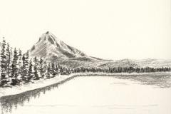 Mt Hood from Trillium Lake, Summer