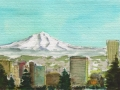 Mt Hood Over Portland, OR